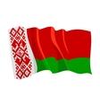 Political waving flag of belarus vector image