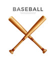 realistic crossed baseball bat for betting vector image
