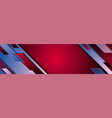 red blue geometric technology banner design vector image vector image