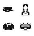 Roll of paper girl and other web icon in black