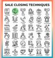 saleclosingtechniques64px36iconseps vector image vector image