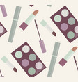 seamless gentle pattern with makeup mascara vector image vector image
