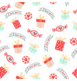 seamless pattern for valentines day with cute vector image vector image