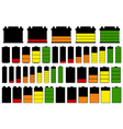set of different batteries vector image