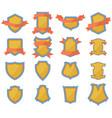 set shields logo vector image vector image
