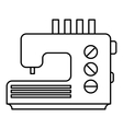 Sewing machine icon outline style vector image vector image