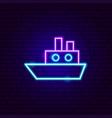 Ship neon sign