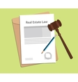 signing legal concept of real estate law vector image vector image