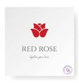 simple minimalist red rose logo design vector image