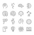 simple set of artificial intelligence related vector image vector image