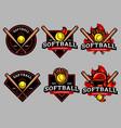 softball logo and badge set image vector image