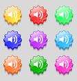Speaker volume sign icon Sound symbol Symbols on vector image