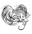 stylized beautiful fish vector image vector image