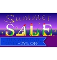 Summer Sale This weekend only 25 percents off vector image vector image