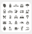 Travel and Transportation icon set vector image vector image