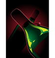 two bottles of red wine vector image vector image