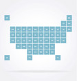 usa map political stylized infograph square states vector image vector image