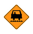usa traffic road signspavement has been milled or vector image vector image