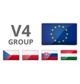 V4 Visegrad group country flag vector image