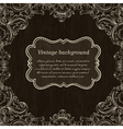 vintage label on wooden background vector image vector image