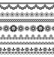 vintage wedding lace seamless pattern set vector image vector image