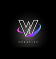 w trendy modern letter logo design monogram and vector image