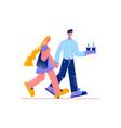 walking people vector image