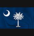 waving flag south carolina 10 eps vector image vector image