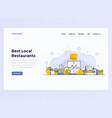 web design flat template concept restaurant vector image vector image
