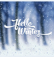 white text with snow on the background of snow vector image vector image