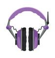 wireless gaming earphones with microphone vector image vector image