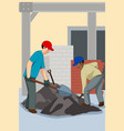 working construction worker vector image