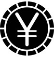 yen and yuan coin currency sign used for the vector image