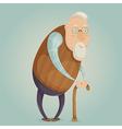old man cartoon character vector image