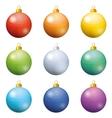 Christmas decoration set balls vector image