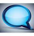 3d speech bubble with blank glass inside vector image vector image