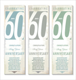 60 years Anniversary retro banner set vector image vector image