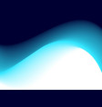abstract deep blue wave vector image vector image