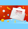abstract scene with envelope and letter vector image vector image