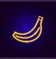 banana neon sign vector image vector image