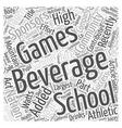 Beverage Company Sponsors Teen Games Word Cloud vector image vector image