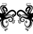 black octopus tentacles vector image vector image