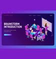 brainstorm introduction isometric landing page vector image