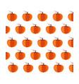 bright cartoon pattern with orange pumpkins vector image vector image