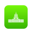 capitol icon digital green vector image vector image