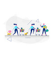 character in shopping concept vector image vector image