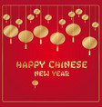 chinese new year red and gold background vector image vector image