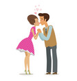 couple in love kissing tenderly on lips romantic vector image