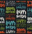 creative seamless pattern with birthday greetings vector image vector image