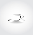 Cup Black Icon vector image vector image